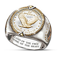 U.S. Eagle Quarter Ring