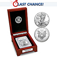 First Day Silver Dollar Coin