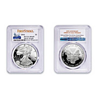 American Eagle Silver Dollar: Incused Edge First Strike Coin
