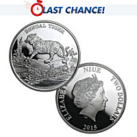 99.9 Silver Bengal Tiger Coin