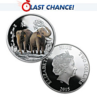 99.9% SIlver Feng Shui Elephant Coin