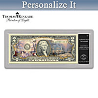 Thomas Kinkade Christmas $2 Bill Currency