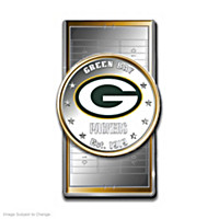 Official Green Bay Packers Silver Dollar Money Clip