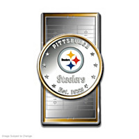 Official Pittsburgh Steelers Silver Dollar Money Clip