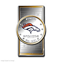 Official Denver Broncos Silver Dollar Money Clip