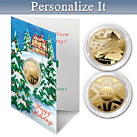 2017 Keepsake Winter's Wonderland Personalized Coin Card Set
