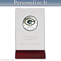 Packers Silver Dollar Coin With Personalized Display