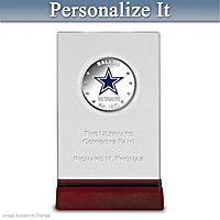 Cowboys Silver Dollar Coin With Personalized Display