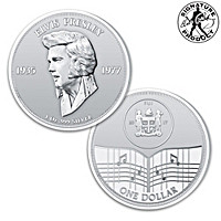 Elvis Presley 40th Anniversary One Ounce Silver Dollar Coin