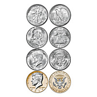 JFK 100th Anniversary Silver Half Dollar Coin Set