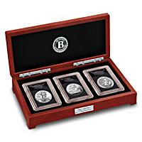 2017 Liberty & Britannia 3-Ounce Silver Coin Set