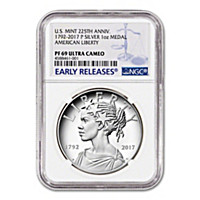 The 2017 PF69 American Liberty Silver Medallion