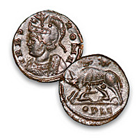The Roman Wolf & Twins Ancient Bronze Coin