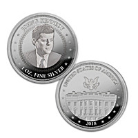 The President Kennedy 99.9% Silver One Ounce Proof Coin