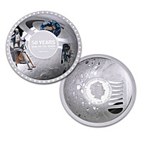 The Apollo 11 50th Anniversary Moon Landing Silver Coin