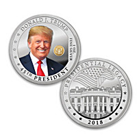 The President Trump 99.9% Silver One Ounce Proof Coin