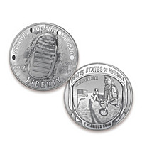 First Strike Apollo 11 Silver Dollar Coin