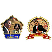 Presidential Legacy Barack Obama Pin Collection With Display