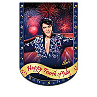 Elvis Presley Rockin\' Through The Year Flag Collection