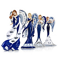 Angels Of Blue Willow Figurine Collection