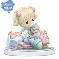 Precious Moments Figurine Collection Celebrates Cuddly Cats