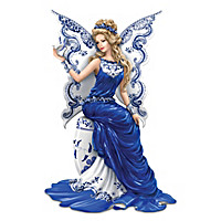 """""""Magic Of Blue Willow"""" Angel Figurine Collection"""