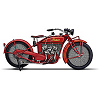 Indian Motorcycle Sculpture Collection With Custom Display