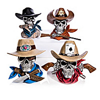 Bones And Steel Cowboy Skull Sculpture Collection