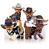 Spurs \'N Fur Yorkie Cowboy Figurine Collection