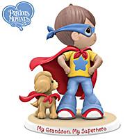 "Precious Moments ""Grandsons Are SUPER"" Figurine Collection"