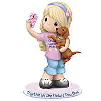 """Precious Moments """"World's Best Dog Mom"""" Figurine Collection"""