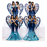 Keith Mallett Blue Willow Angels Figurine Collection