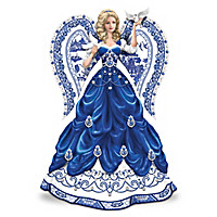 """Sparkling Blue Willow"" Angel Figurine Collection"