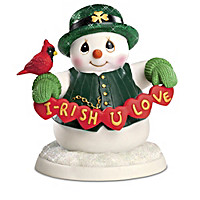 Precious Moments Irish You Many Blessings Snowman Figurines