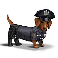 Blake Jensen Dachshund Police Figurine Collection
