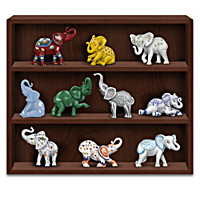 Eclectic Elegance Elephant Figurine Collection