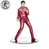 """Rock Pink With Elvis"" Awareness Figurine Collection"