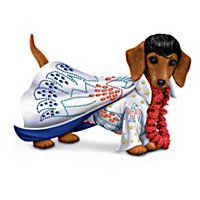 """Elvis Paw-esley"" Dachshund Figurine Collection"