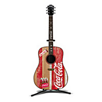 COCA-COLA Acoustic Guitar Sculpture Collection With Stands