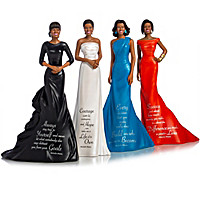 Michelle Obama\'s Words Of Wisdom Figurine Collection