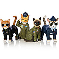 Purr-ide In The Skies Air Force Figurine Collection