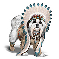"""Feathers 'N Fur"" Shih Tzu Wild West Figurine Collection"