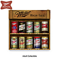 Evolution Of Greatness Miller Beer Can Figurine Collection