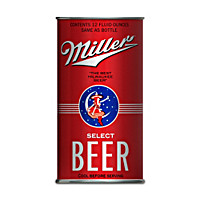 Miller Replica Beer Cans With Display