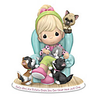 Precious Moments Cat Figurines With Sentiments