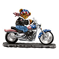 Faithful Fuzzies Born To Ride Biker Bear Figurine Collection