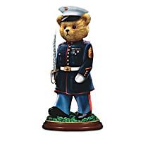 """Faithful Fuzzies """"Semper Fi"""" USMC Bear Figurine Collection"""