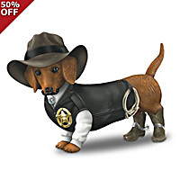 Spurs \'N Fur Dachshund Figurine Collection