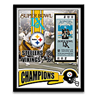 Pittsburgh Steelers Ticket To Victory Framed Prints