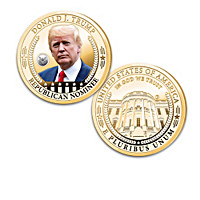 Donald Trump 24K Gold-Plated Proof Coin Collection